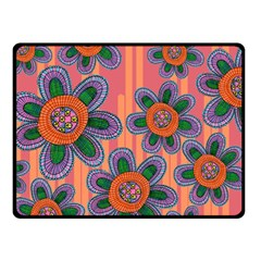 Colorful Floral Dream Fleece Blanket (Small)