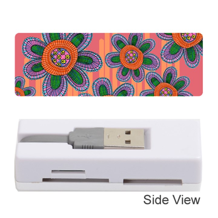 Colorful Floral Dream Memory Card Reader (Stick)