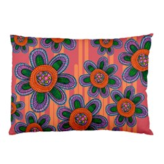 Colorful Floral Dream Pillow Case (two Sides) by DanaeStudio