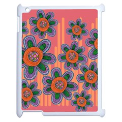Colorful Floral Dream Apple Ipad 2 Case (white) by DanaeStudio