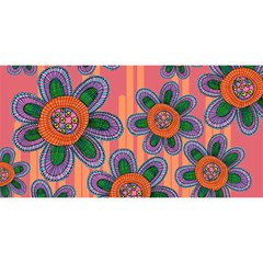 Colorful Floral Dream You Are Invited 3d Greeting Card (8x4) by DanaeStudio