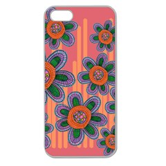Colorful Floral Dream Apple Seamless iPhone 5 Case (Clear)