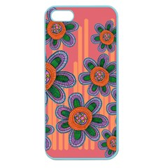 Colorful Floral Dream Apple Seamless Iphone 5 Case (color) by DanaeStudio