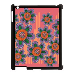 Colorful Floral Dream Apple Ipad 3/4 Case (black) by DanaeStudio
