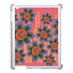 Colorful Floral Dream Apple iPad 3/4 Case (White) Front