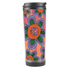 Colorful Floral Dream Travel Tumbler