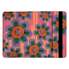 Colorful Floral Dream Samsung Galaxy Tab Pro 12 2  Flip Case by DanaeStudio