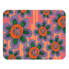 Colorful Floral Dream Double Sided Flano Blanket (Large)