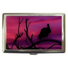 Vultures At Top Of Tree Silhouette Illustration Cigarette Money Cases