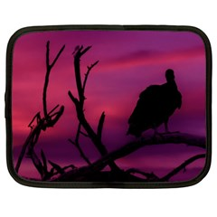 Vultures At Top Of Tree Silhouette Illustration Netbook Case (XXL)