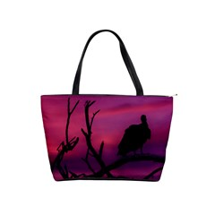 Vultures At Top Of Tree Silhouette Illustration Shoulder Handbags