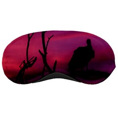 Vultures At Top Of Tree Silhouette Illustration Sleeping Masks