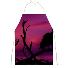 Vultures At Top Of Tree Silhouette Illustration Full Print Aprons