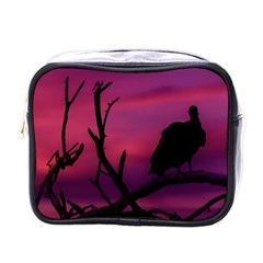 Vultures At Top Of Tree Silhouette Illustration Mini Toiletries Bags