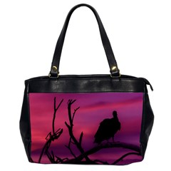 Vultures At Top Of Tree Silhouette Illustration Office Handbags (2 Sides)