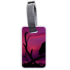Vultures At Top Of Tree Silhouette Illustration Luggage Tags (Two Sides)