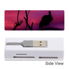 Vultures At Top Of Tree Silhouette Illustration Memory Card Reader (Stick)