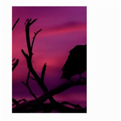 Vultures At Top Of Tree Silhouette Illustration Large Garden Flag (Two Sides)