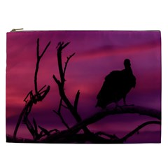 Vultures At Top Of Tree Silhouette Illustration Cosmetic Bag (XXL)