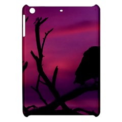 Vultures At Top Of Tree Silhouette Illustration Apple iPad Mini Hardshell Case