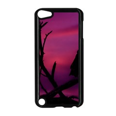 Vultures At Top Of Tree Silhouette Illustration Apple iPod Touch 5 Case (Black)