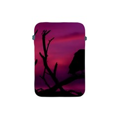 Vultures At Top Of Tree Silhouette Illustration Apple iPad Mini Protective Soft Cases