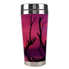 Vultures At Top Of Tree Silhouette Illustration Stainless Steel Travel Tumblers