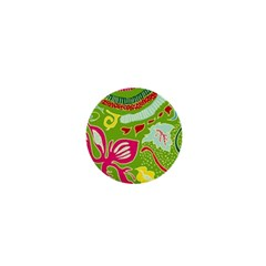 Green Organic Abstract 1  Mini Buttons by DanaeStudio