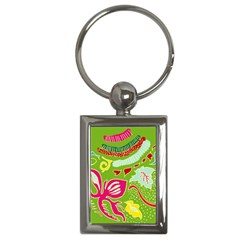Green Organic Abstract Key Chains (rectangle)  by DanaeStudio