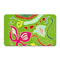 Green Organic Abstract Magnet (rectangular) by DanaeStudio