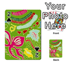 Green Organic Abstract Playing Cards 54 Designs  by DanaeStudio