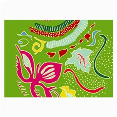 Green Organic Abstract Large Glasses Cloth (2 Side) by DanaeStudio