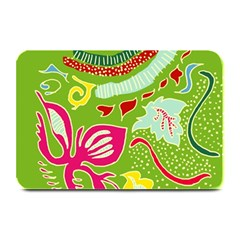 Green Organic Abstract Plate Mats by DanaeStudio