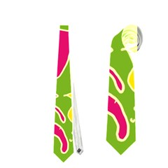 Green Organic Abstract Neckties (two Side)  by DanaeStudio