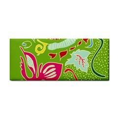Green Organic Abstract Hand Towel by DanaeStudio