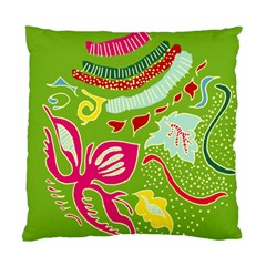 Green Organic Abstract Standard Cushion Case (two Sides) by DanaeStudio