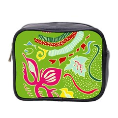 Green Organic Abstract Mini Toiletries Bag 2 Side by DanaeStudio