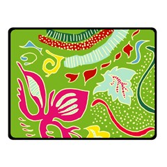 Green Organic Abstract Fleece Blanket (small) by DanaeStudio