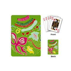 Green Organic Abstract Playing Cards (mini)  by DanaeStudio