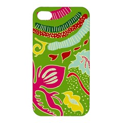 Green Organic Abstract Apple Iphone 4/4s Hardshell Case by DanaeStudio