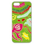 Green Organic Abstract Apple Seamless iPhone 5 Case (Clear) Front