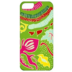 Green Organic Abstract Apple Iphone 5 Classic Hardshell Case by DanaeStudio
