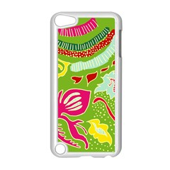 Green Organic Abstract Apple Ipod Touch 5 Case (white) by DanaeStudio