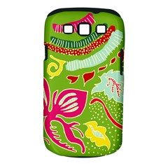 Green Organic Abstract Samsung Galaxy S Iii Classic Hardshell Case (pc+silicone) by DanaeStudio