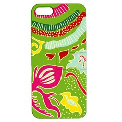 Green Organic Abstract Apple Iphone 5 Hardshell Case With Stand by DanaeStudio