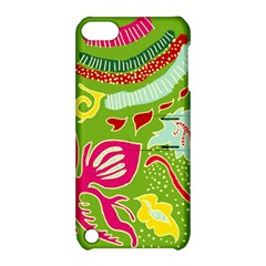 Green Organic Abstract Apple Ipod Touch 5 Hardshell Case With Stand by DanaeStudio