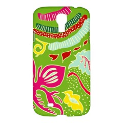 Green Organic Abstract Samsung Galaxy S4 I9500/i9505 Hardshell Case by DanaeStudio
