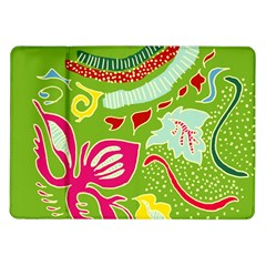 Green Organic Abstract Samsung Galaxy Tab 10 1  P7500 Flip Case by DanaeStudio