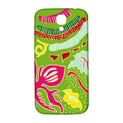 Green Organic Abstract Samsung Galaxy S4 I9500/i9505  Hardshell Back Case by DanaeStudio