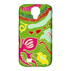 Green Organic Abstract Samsung Galaxy S4 Classic Hardshell Case (pc+silicone) by DanaeStudio